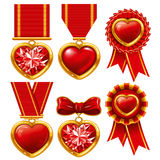 Medal heart Stock Images
