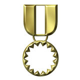 Medal of Honour. Isolated in white Stock Photo