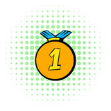 Medal icon, comics style Royalty Free Stock Photo