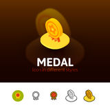Medal icon in different style Stock Photography