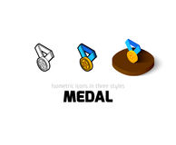 Medal icon in different style Stock Photos