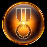 Medal icon golden Stock Photography
