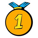 Medal icon, icon cartoon Stock Photography