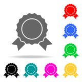 Medal icons. Elements of human web colored icons. Premium quality graphic design icon. Simple icon for websites, web design, mobil. E app, info graphics on white Stock Photos