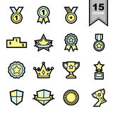 Medal icons set Royalty Free Stock Photos