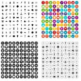 100 medal icons set variant. 100 medal icons set in 4 variant for any web design isolated on white Vector Illustration
