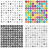 100 medal icons set vector variant. 100 medal icons set vector in 4 variant for any web design isolated on white Royalty Free Stock Photo