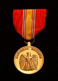 Medal II. The U. S. National Defense medal stock photos