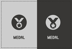 Medal Illustration. A clean and simple medal illustration Royalty Free Stock Image