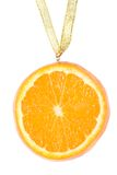 Medal from a juicy orange. Stock Image