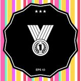 Medal with Laurel wreath. Icon. Signs and symbols - graphic elements for your design Royalty Free Stock Photography