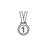 Medal line icon, sport and champion element. First place vector graphics, a linear pattern on a white background, eps 10 vector illustration