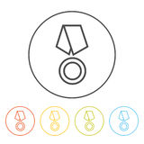 Medal line icon Royalty Free Stock Images