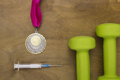 Medal obtained through use of doping Stock Photography