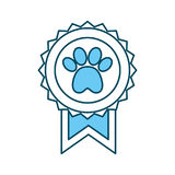 Medal with paw icon Royalty Free Stock Photography