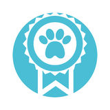Medal with paw icon Royalty Free Stock Photos
