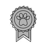 Medal with paw icon Royalty Free Stock Photo