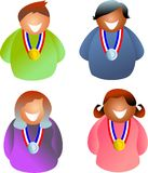 Medal people Royalty Free Stock Photography