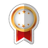 Medal price award icon. Vector illustration design Stock Images