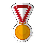Medal price award icon. Vector illustration design Royalty Free Stock Photos