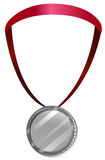 A medal with a red neck lace Royalty Free Stock Images