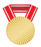 Medal on a ribbon Stock Photos