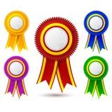Medal Ribbon color set Stock Images