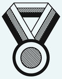 Medal with ribbon Stock Photography