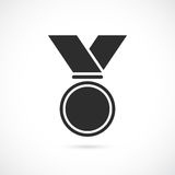 Medal with ribbon vector icon Stock Photography