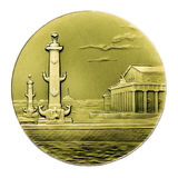 The medal of Rostral columns Stock Photo