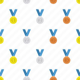 Medal seamless background. Stock Photo