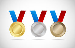 Medal set Stock Images