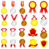 Medal set Stock Photo