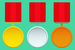 Medal set Royalty Free Stock Photography