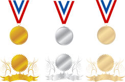 Medals. Medal set isolated on a white background stock illustration