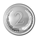 medal silver Στοκ Φωτογραφία
