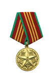 Medal with a Star. Medal Soviet Russia For the sterling service Stock Photos