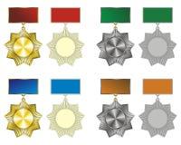 Medal. Variants medals, badges. Vector format Stock Images