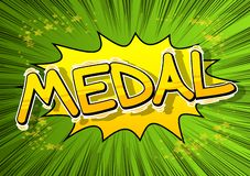 Medal - Comic book style word. royalty free illustration