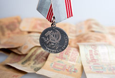 Medal «Veteran of Labour» Stock Image