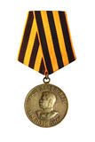 Medal for the victory. In the Great Patriotic War 1941-1945. Medal of Generalissimo Stalin. An isolated object on a white background stock photography