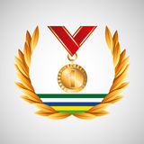 Medal win olympic games emblem Stock Photos