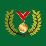 Medal win olympic games emblem Royalty Free Stock Image