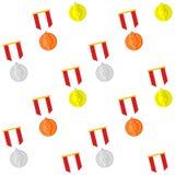 Medal winner rank pattern Royalty Free Stock Photo