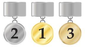 Medal winners Stock Photo