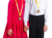 Medal winners Royalty Free Stock Photography