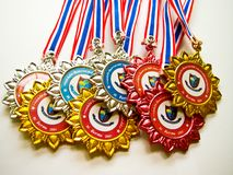 Medal winning sports Royalty Free Stock Images