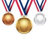 Medale ilustracyjni Obraz Royalty Free