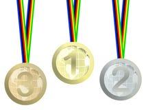 medale olimpijscy Obrazy Royalty Free
