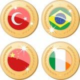 medale światowi Obrazy Royalty Free
